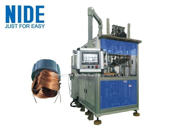 Automatic Stator Winding Inserting Machine For Generator Motor , Three Working Station