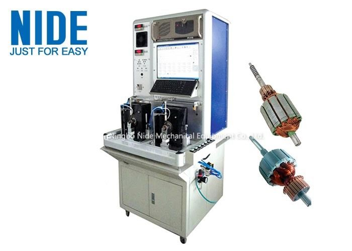 Armature Motor Testing Equipment For Electrical strength , Double Working Station
