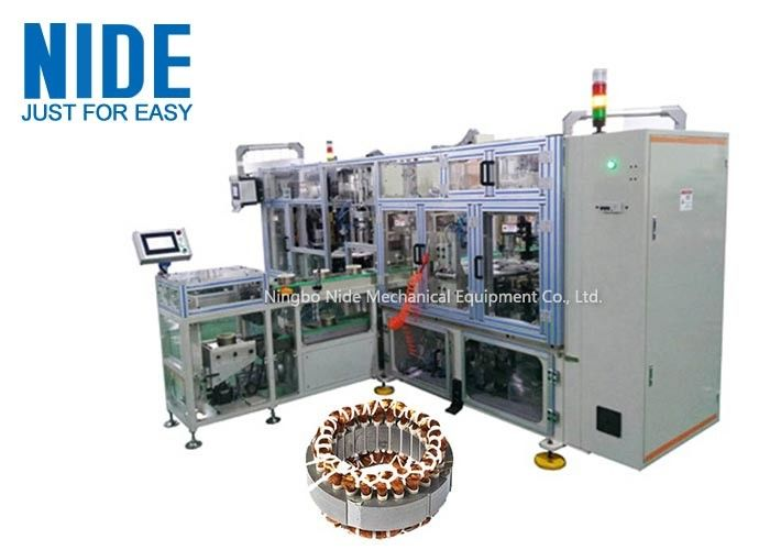 High Effeciency Lacing Machine Four Working Stations Stator Coil Winding Lacer