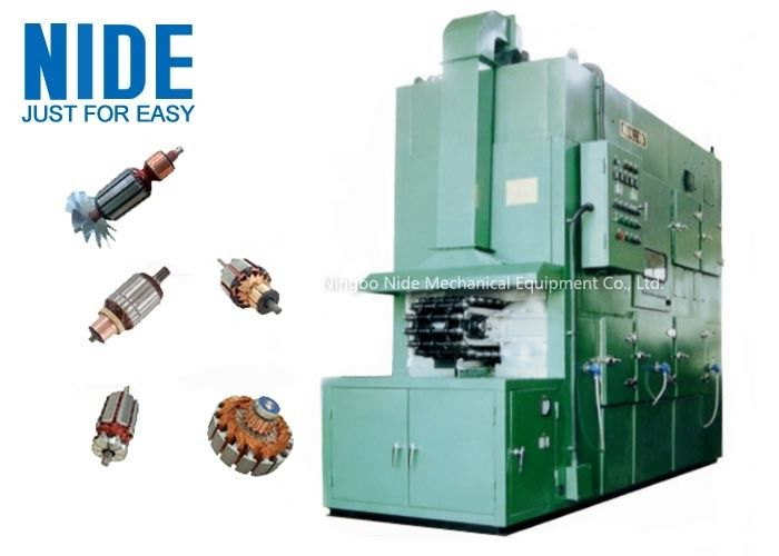 High efficiency Armature Trickling Impregnation Machine , Adjustable Pitch Time