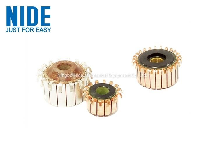 CE Standard Electric Motor Parts / Armature And Rotor Hook Commutator Segment