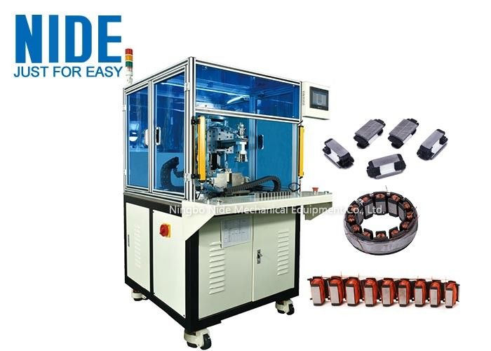 Automatic linear segment stator winding machine open pole stator needle coil winding equipment