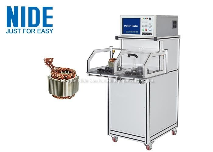 Double Test Station Coil Winding Stator Testing Machine For induction electric motor
